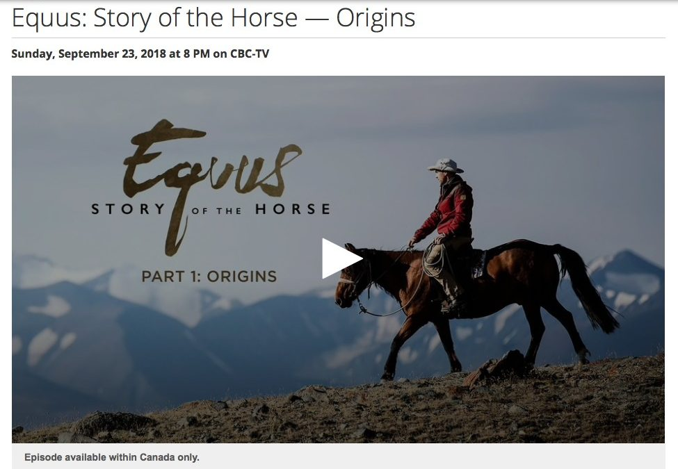 CBC DOCUMENTARY:  Story of the Horse